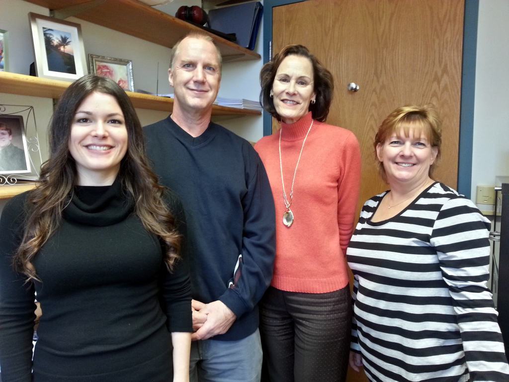 From left to right: Mary Collier, Joe Stall, Margie Johnson, and Jackie Wells.